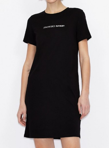 Armani Exchange T-SHIRT DRESS CON SCRITTA LOGO - 3KYA96-YJG3Z - Tadolini Abbigliamento