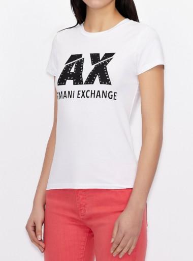 Armani Exchange T-SHIRT SLIM FIT - 8NYT86-Y8C7Z 1000 - Tadolini Abbigliamento