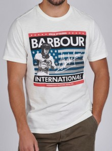 BARBOUR International BA INTL TIME STEVE TEE - MTS0805WH32 - Tadolini Abbigliamento