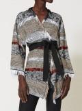 TWINSET Milano MAXI CARDIGAN JACQUARD CON FRANGE - 211TT3271 - Tadolini Abbigliamento
