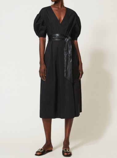 POPELINE DRESS WITH BELT