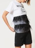 TWINSET Milano T-SHIRT CON PIUME E STRASS - 211MT2600 - Tadolini Abbigliamento