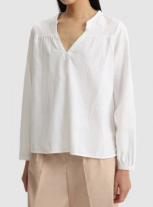 COTTON LINEN BLOUSE