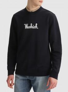 Woolrich FELPA GIROCOLLO ESSENTIAL IN COTONE BIO - CFWOSW0090MRUT2544 3989 - Tadolini Abbigliamento
