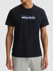 Woolrich MAGLIETTA IN PURO COTONE CON MAXI LOGO - CFWOTE0048MRUT1486 3989 - Tadolini Abbigliamento