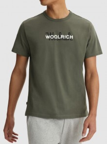 Woolrich MAGLIETTA IN PURO COTONE CON MAXI LOGO - CFWOTE0048MRUT1486 6024 - Tadolini Abbigliamento