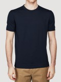 KNITTED T-SHIRT WITH LOGO