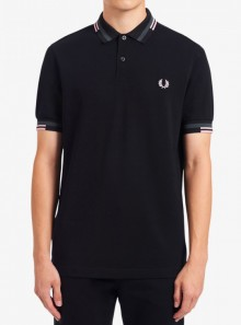 ABSTRACT TIPPED POLO SHIRT