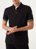 POLO SHIRT WITH CONTRASTING SLEEVE GUARDS