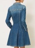 DENIM SHIRT DRESS WITH STUDS