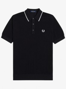 TIPPED KNITTED PIQUE POLO SHIRT