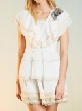 """""""AIN"""" DRESS WITH LACES ANDPATCH EMBROIDERY"""