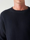 CREW NECK SWEATER IN ENGLISH KNIT
