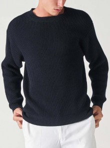 Grifoni MAGLIONE GIROCOLLO IN MAGLIA INGLESE - GI110000-65 - Tadolini Abbigliamento