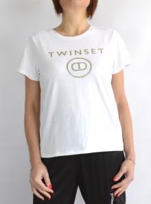 TWINSET Milano T-SHIRT CON STAMPA LOGO FRONTALE - 211TT2512 00001 - Tadolini Abbigliamento