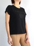 T-SHIRT WITH FRONT LOGO PRINT