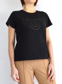 TWINSET Milano T-SHIRT CON STAMPA LOGO FRONTALE - 211TT2512 00006 - Tadolini Abbigliamento