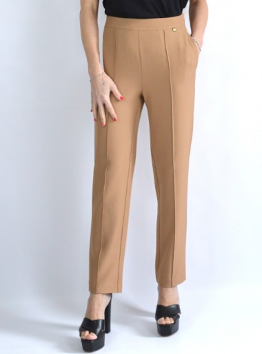 SLIM TROUSERS WITH ELASTIC WAIST