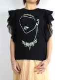 T-SHIRT WITH TULLE SLEEVES