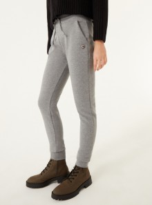 FLEECE TROUSERS WITH EXTERNAL DRAWSTRING