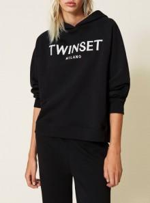 TwinSet FELPA CON LOGO RICAMATO - 212TP2571 00006 - Tadolini Abbigliamento