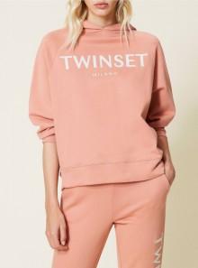 TwinSet FELPA CON LOGO RICAMATO - 212TP2571 00430 - Tadolini Abbigliamento