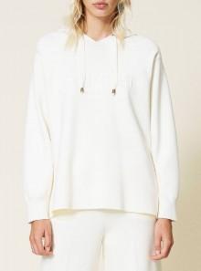 TwinSet FELPA IN MAGLIA CON CAPPUCCIO - 212TP3244 00282 - Tadolini Abbigliamento