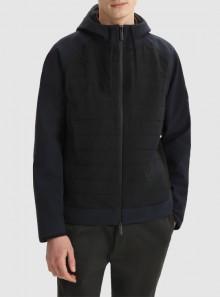 Woolrich FELPA FULL-ZIP IN MISTO COTONE-NYLON CON CAPPUCCIO - CFWOSW0107MRUT2721 - Tadolini Abbigliamento