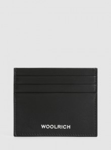 LEATHER CARD HOLDER WITH LOGO AND CHECK PATTERN