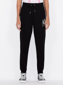SPORTY COTTON SWEATPANTS WITH CONTRASTING LOGO