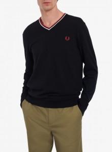 Fred Perry MAGLIONE CLASSICO CON SCOLLO A V - K9600 N20 - Tadolini Abbigliamento