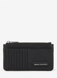 Armani Exchange PORTACARTE CON ZIP E LOGO - 948445 - Tadolini Abbigliamento