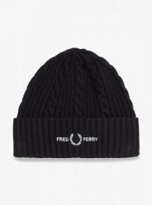 CABLE BRANDED BEANIE