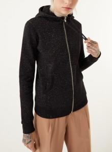 Colmar Originals FELPA FULL ZIP CON CAPPUCCIO IN COTONE FINITURA GLITTER - 9002 99 - Tadolini Abbigliamento