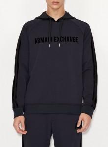 Armani Exchange FELPA CON CAPPUCCIO E DETTAGLI A CONTRASTO - 6KZMFS - Tadolini Abbigliamento