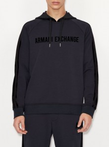 HOODED SWEATSHIRT WITH CONTRASTING DETAILS