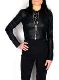 SHORT JACKET IN SYNTHETIC LEATHER