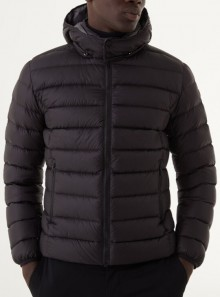 SPORTY DOWN JACKET WITH REMOVABLE HOOD