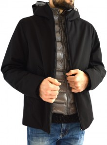 3-LAYER DOWN JACKET WITH WATER-REPELLENT WOOL EFFECT