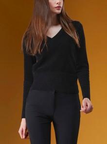 RRD KNIT VELVET V-NECK LADY - W21605 10 - Tadolini Abbigliamento