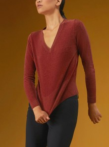 RRD KNIT VELVET V-NECK LADY - W21605 40 - Tadolini Abbigliamento