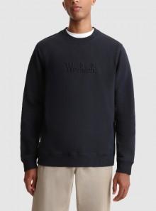 Woolrich FELPA GIROCOLLO LUXE CON LOGO IN RILIEVO - CFWOSW0101MRUT2724 3989 - Tadolini Abbigliamento
