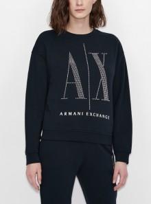Armani Exchange FELPA GIROCOLLO IN COTONE ICON PERIOD - 8NYM01 1510 - Tadolini Abbigliamento