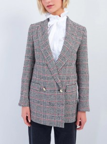 Vicolo BLAZER DOPPIOPETTO CHECK - TX1304 - Tadolini Abbigliamento