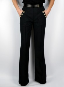 TROUSERS WITH BELT AND BUTTONS