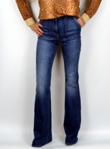 DENIM JEANS WITH LARGE POCKETS