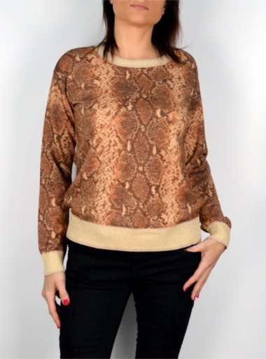 LUREX SWEATER WITH PYTHON FANTASY