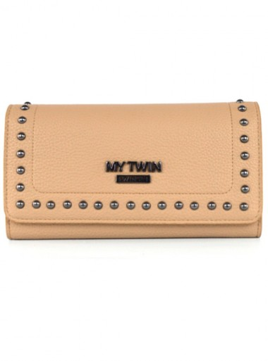 FAUX LEATHER WALLET WITH STUDS