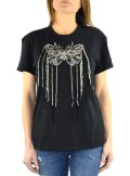 COTTON T-SHIRT WITH BUTTERFLY EMBROIDERY