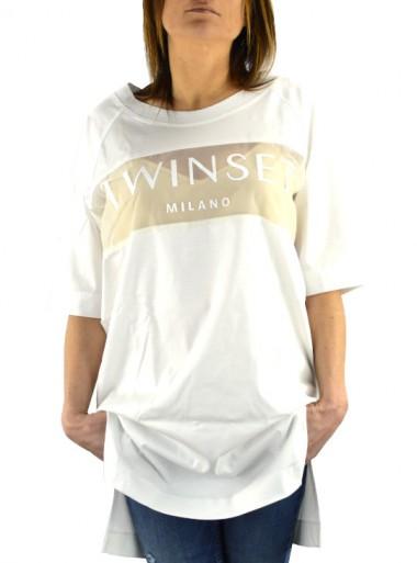 TwinSet MAXI T-SHIRT CON LOGO 191TP2272 - Tadolini Abbigliamento
